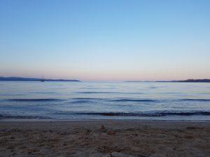 Lumière d'été sur la mer